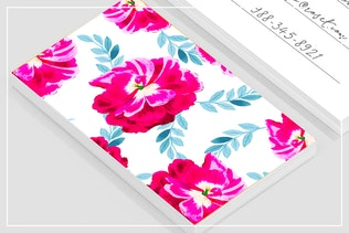 Thumbnail for Fluorescent Florals Business Card