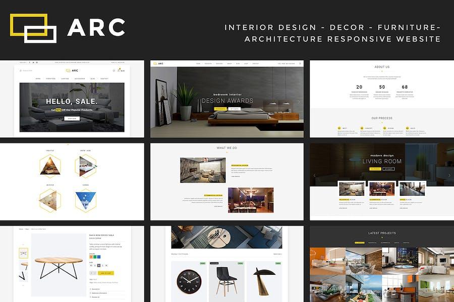 ARC - Interior Design, Decor, Architecture Website - product preview 1