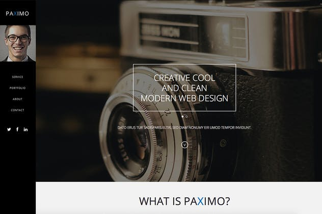 Paximo -Parallax Portfolio Muse Template - product preview 2