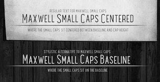 Thumbnail for Maxwell Sans Small Caps Bold