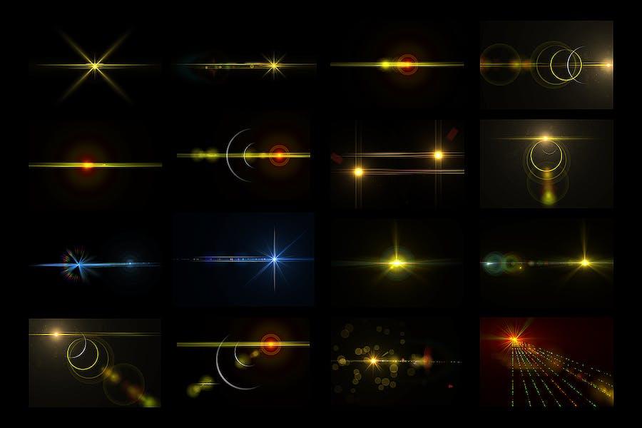50 Custom Lens Flare & Light Effects kit