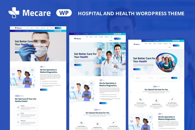 Mecare – Hospital and Health WordPress Theme - product preview 1