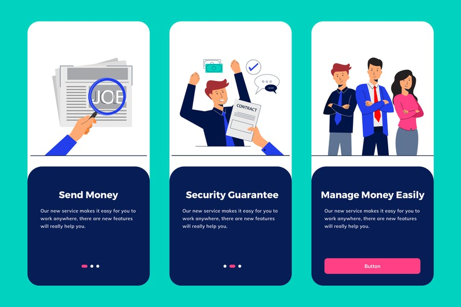Job Seeker Apps Onboarding Illustration - product preview 1