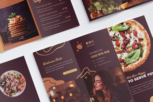 Thumbnail for Food & Restaurant Trifold Brochure