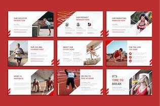 Миниатюра для Sprinto - Спорт Google слайды Шаблон