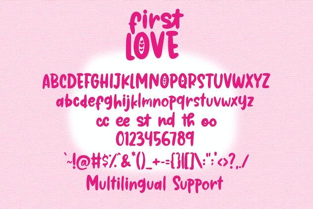 First Love - Cute Handwritten Font