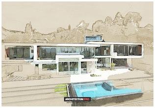 Thumbnail for Architectum - Sketch Draft Photoshop Action