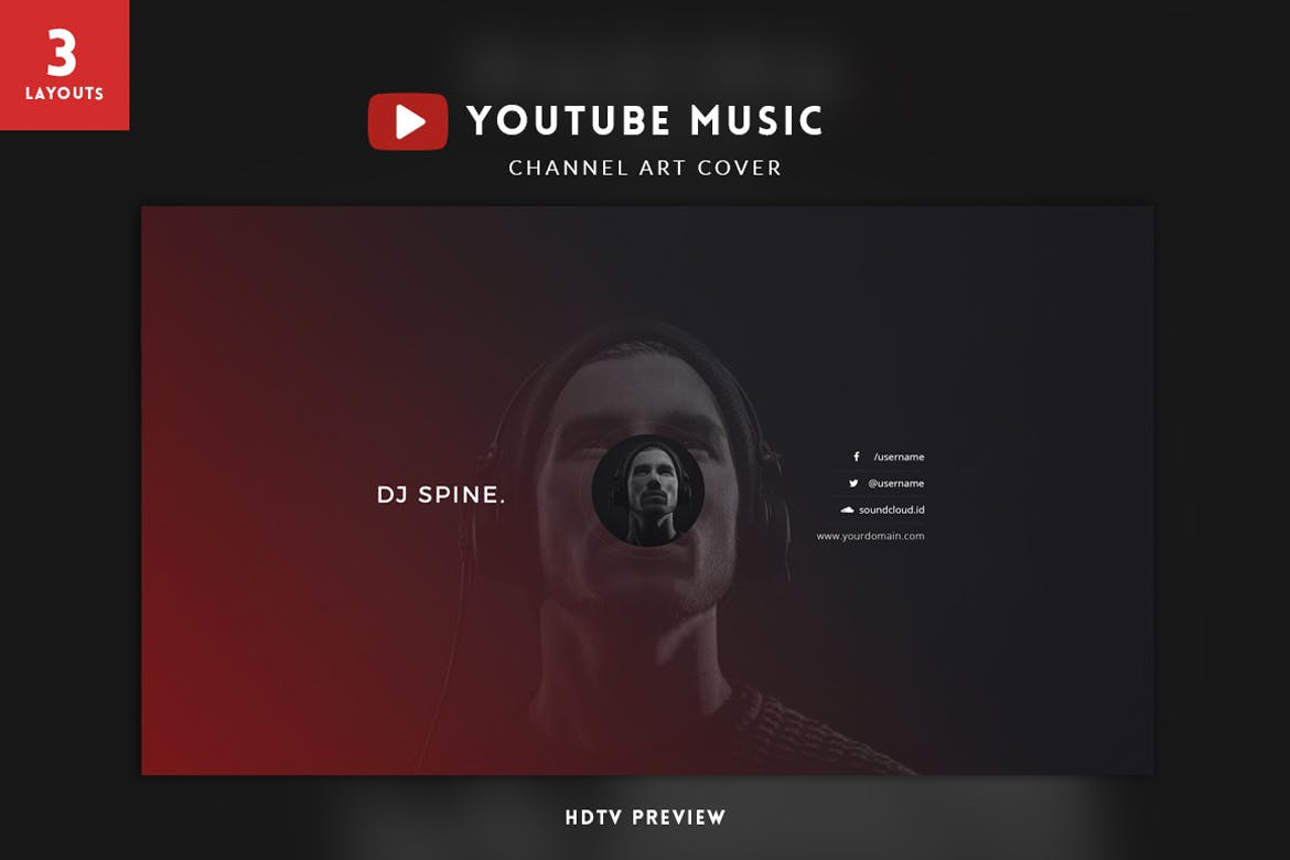 Youtube music channel art by micromove on envato elements maxwellsz