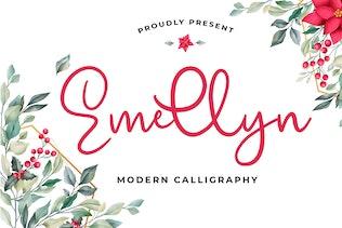 Emellyn Lovely Modern Calligraphy Font