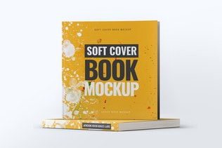Soft Cover Square Book Mock-Up