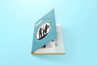 Thumbnail for Spiral Hardbound Book With Folder Cover Mockups