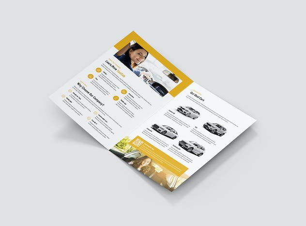 Taxi Cab – Brochures Bundle Print Templates 5 in 1 - product preview 3