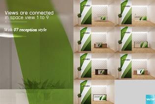 Thumbnail for Office Interior Branding Mockups