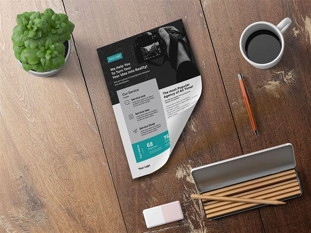 simple flyer for agency - product preview 1