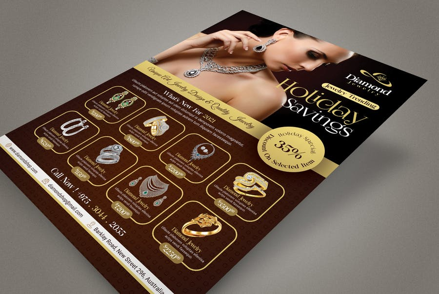 Jewelry Store Flyer Template - product preview 1