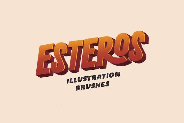 ESTEROS - Procreate Illustration Brushes