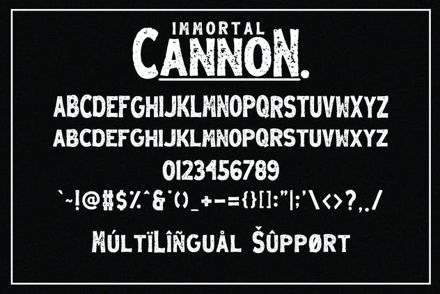Immortal Cannon - Retro Display Font