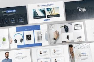 Thumbnail für Geschäftsentwicklung - Google Slide V390