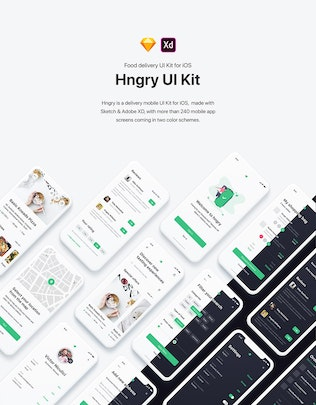 Thumbnail for Hngry UI Kit - Food Delivery UI Kit