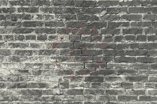Halftone Brick & Stone Wall Textures - product preview 8