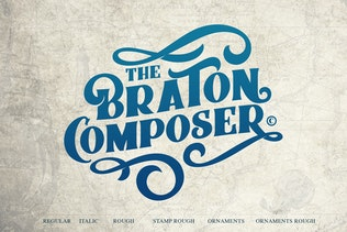 Thumbnail for Braton Composer Typeface