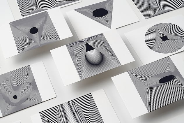 56 illusions forms abstract. Surrealistic optical - product preview 11
