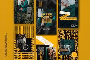 Thumbnail for Rubber Vol. 2 - Instagram KIT Template + Stories