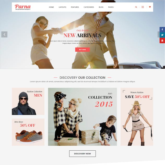Parna - Cosmetic, Beauty OpenCart 2.3 Theme