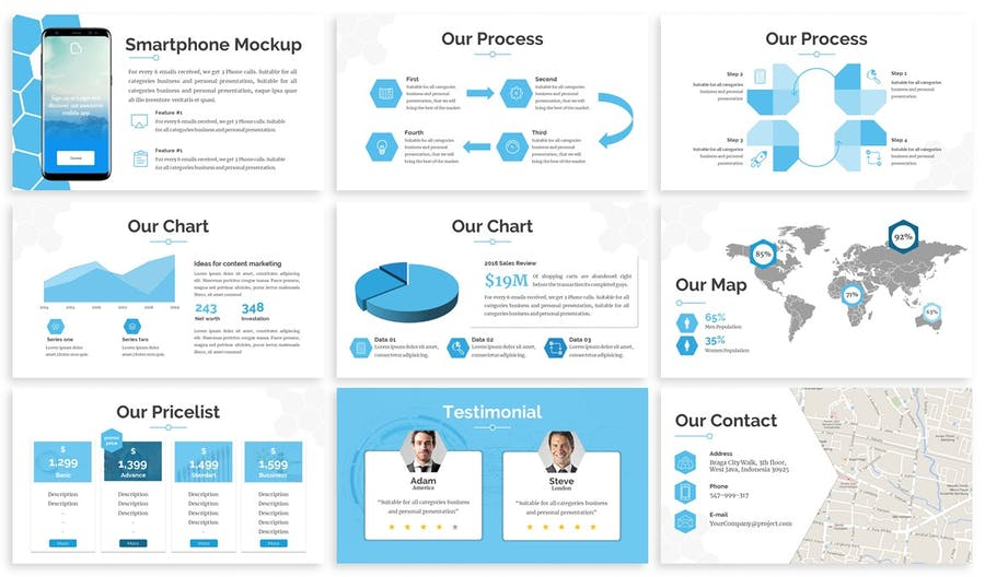 Hexsa - Networking Google Slides Template - product preview 3