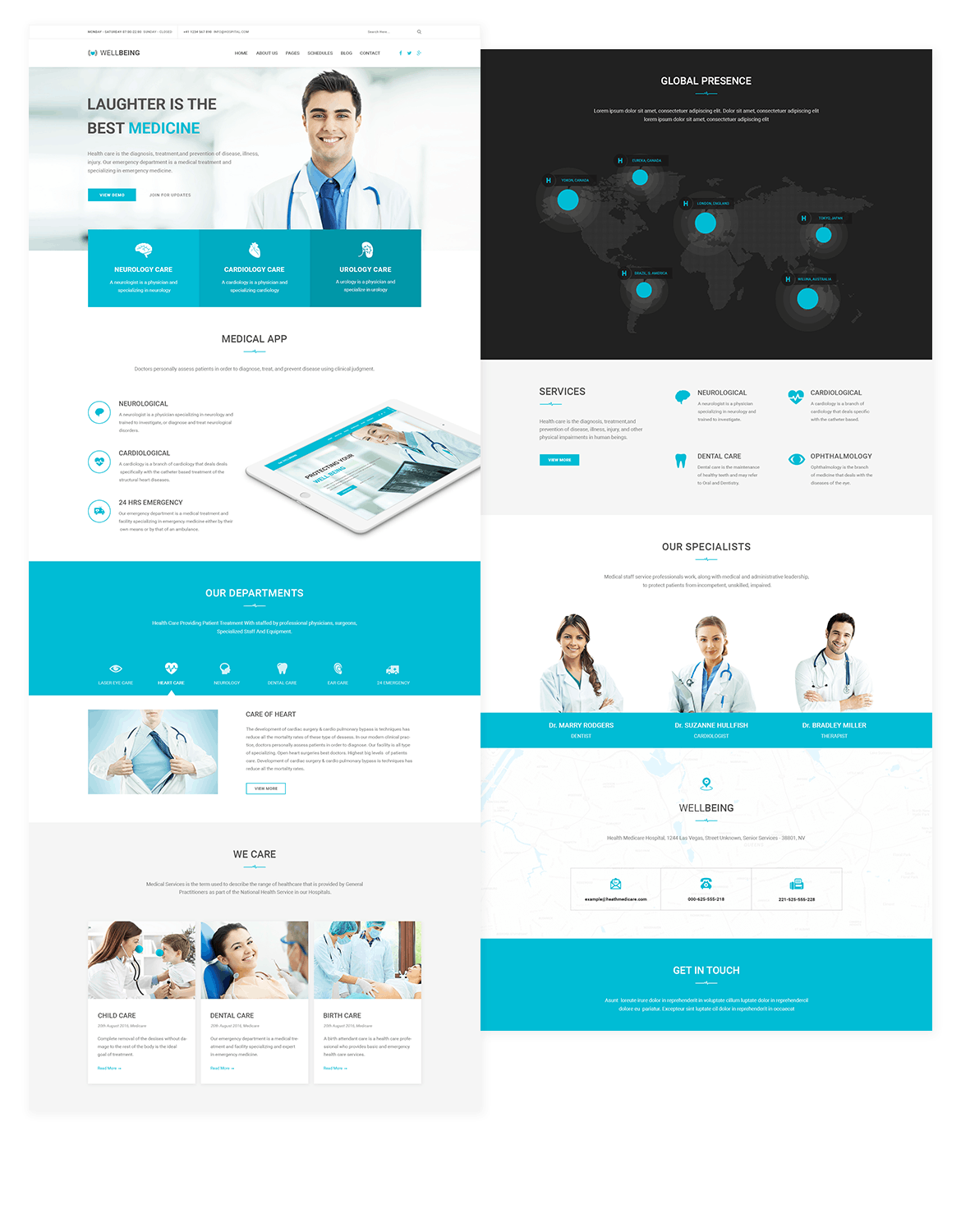 Well Care Medical Health App Psd Sketch By Themepassion On Envato Elements