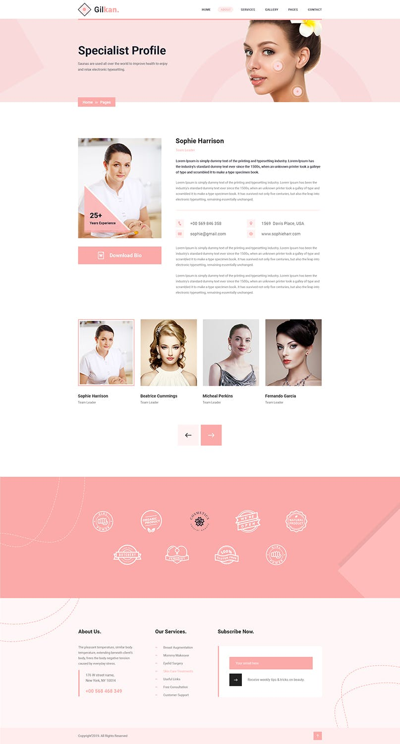 Gilkan - Dermatology and Skin Care HTML5 Template - product preview 2