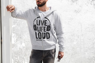 Thumbnail for Man Hoodie Fashion Mock-Up