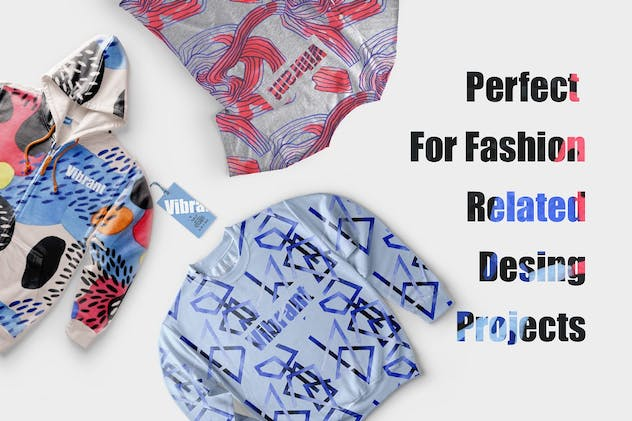 Vibrant Watercolor Patterns - product preview 4