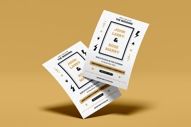 Wedding Invitation Flyer Template Vol. 05 - product preview 2
