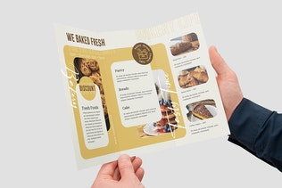 Thumbnail for Bakery And Confectionery Food Trifold Brochure