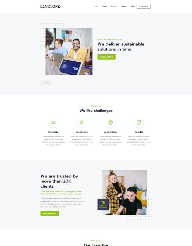 Landlord - Landing Page Templates - product preview 5
