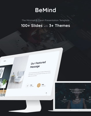 Thumbnail for BeMind Minimal & Business Template (PPTX)