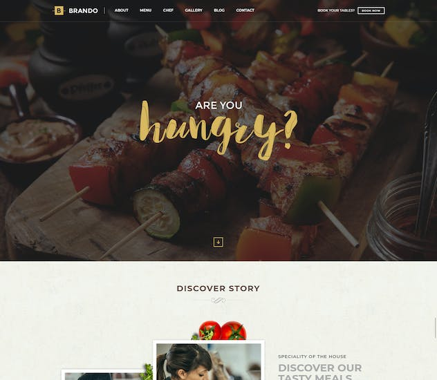 Brando Responsive & Multipurpose OnePage Template - product preview 1
