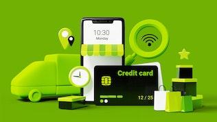 3d mobile shopping mockups