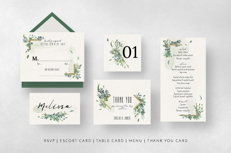 Gold & Greenery Wedding Suite - product preview 9