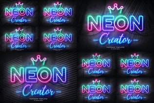 Thumbnail for Neon Wall Sign Templates