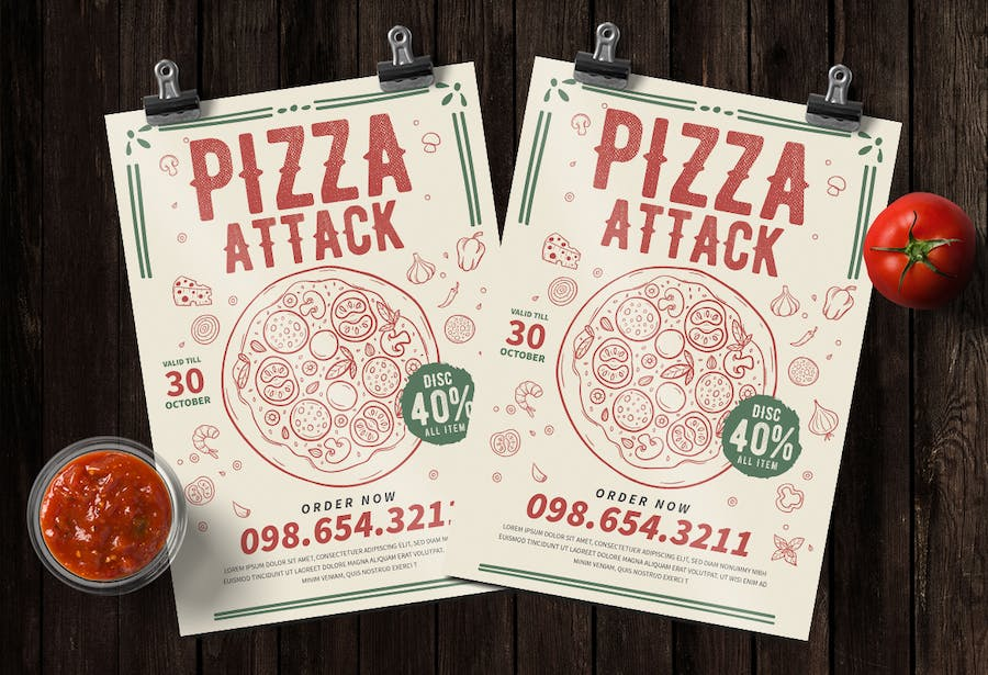 Pizza Party Flyer - product preview 1