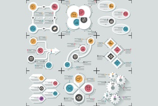 Thumbnail for Minimal Flat Infographics v.06