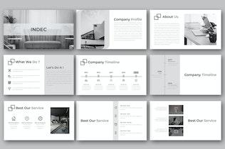 Миниатюра для INDEC — Творческий бизнес-PowerPoint Шаблон