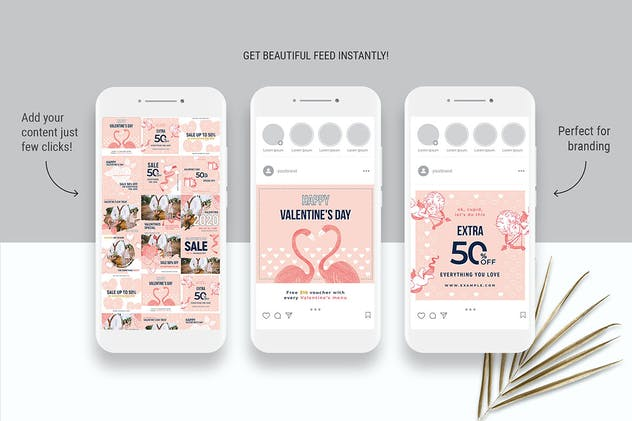 Valentines Instagram Templates - product preview 7