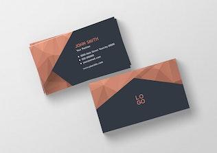 Thumbnail for Modern Polygonal Business Card