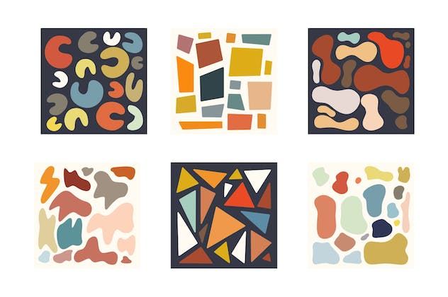 Abstract Shape Retro Patterns - product preview 6