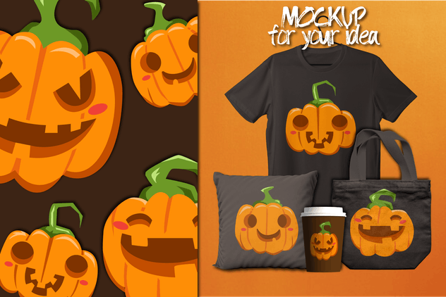 Halloween Cute Pumpkin Laugh - product preview 1
