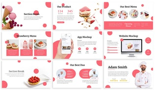 Thumbnail for Amiis - CakeShop Google Slides Template