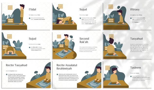 How to Salah - Education Google Slides Template